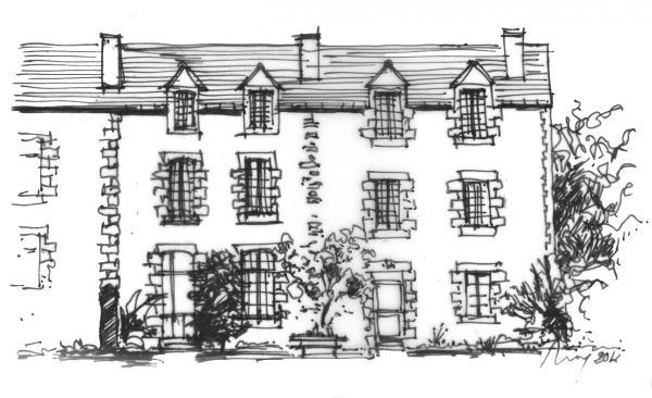 croquis de la façade de la maison
